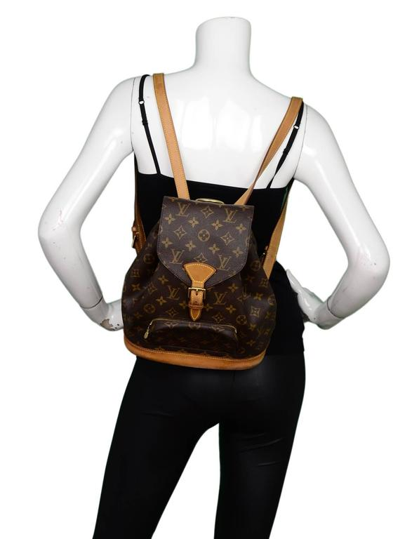 Louis Vuitton Monogram Montsouris MM Backpack Bag For Sale 4