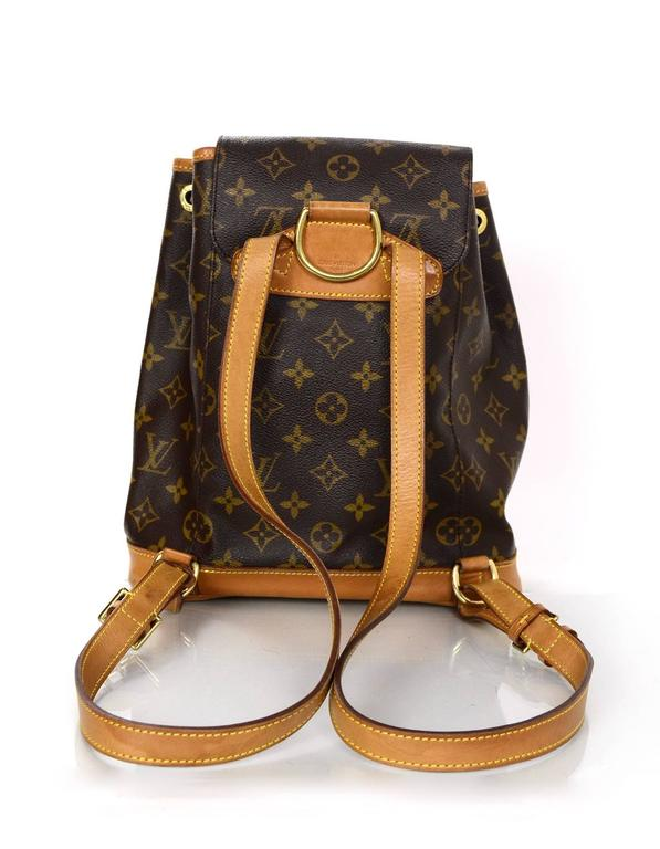 Black Louis Vuitton Monogram Montsouris MM Backpack Bag For Sale