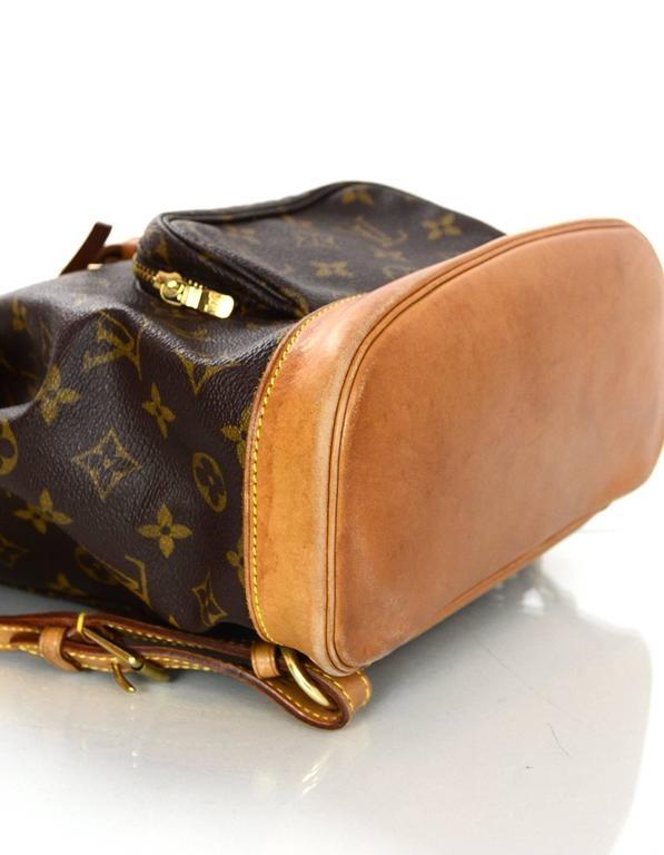 Women's or Men's Louis Vuitton Monogram Montsouris MM Backpack Bag For Sale