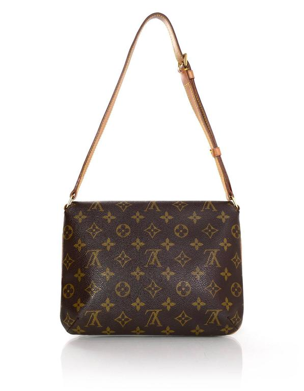 4a61fa849b6a Louis Vuitton Monogram Musette Tango Bag In Excellent Condition For Sale In New  York