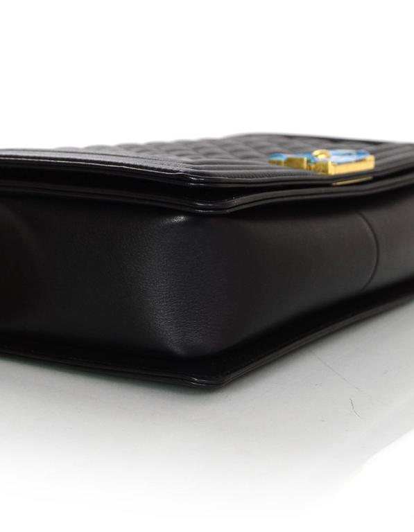 Chanel NEW IN BOX Black Leather New Medium Boy Bag GHW  5