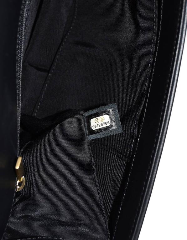 Chanel NEW IN BOX Black Leather New Medium Boy Bag GHW  7
