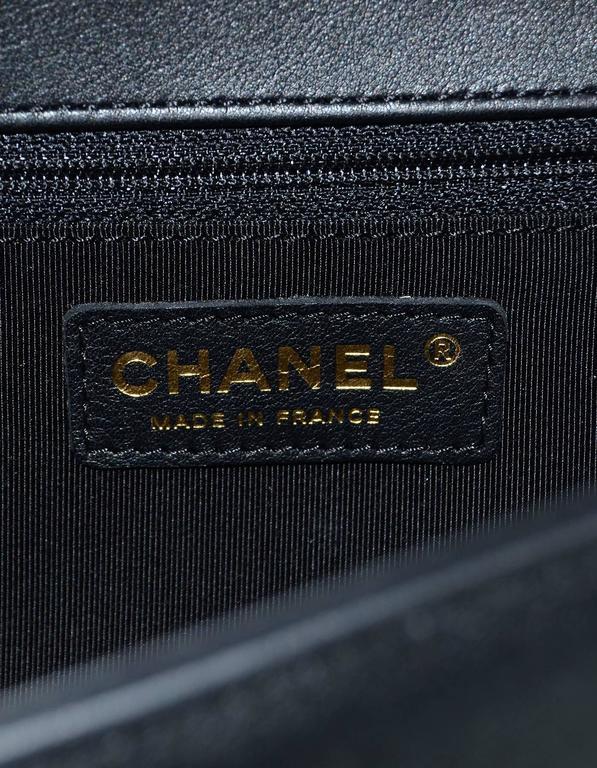 Chanel NEW IN BOX Black Leather New Medium Boy Bag GHW  9