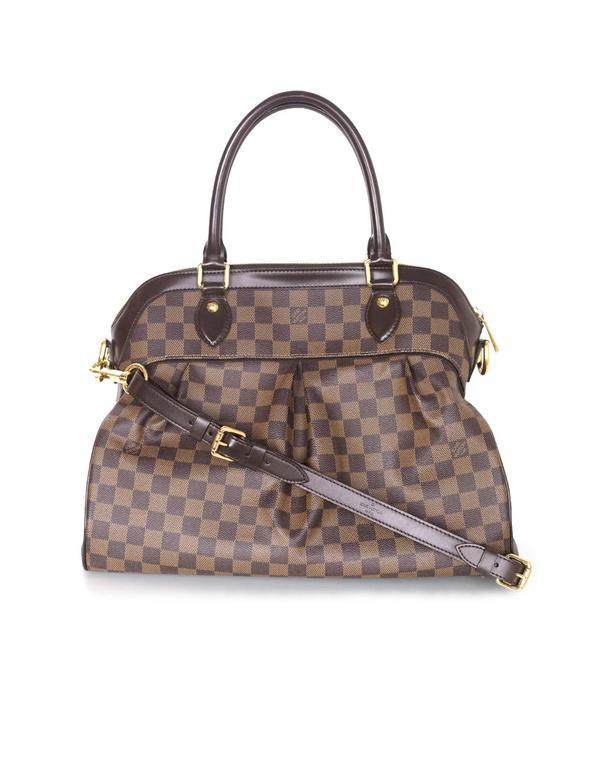 Louis Vuitton Damier Ebene Trevi GM Bag w  Strap For Sale at 1stdibs 988b4c1933