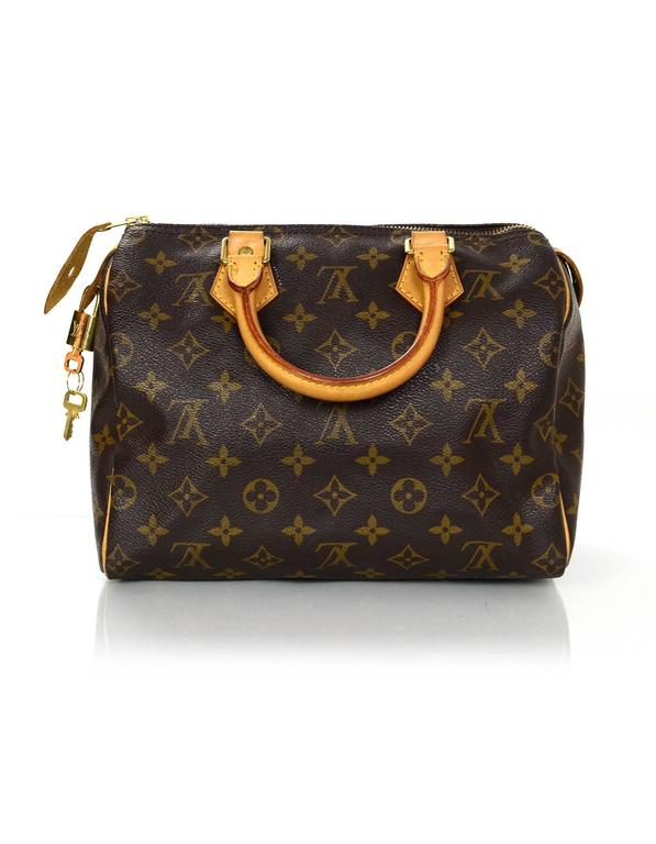 Louis Vuitton Monogram Speedy 25 Bag GHW w  DB Lock Keys For Sale at ... 45747fbfc5