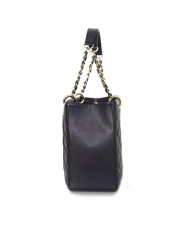 Chanel Black Caviar Leather GST Grand Shopper Tote Bag For Sale at ...