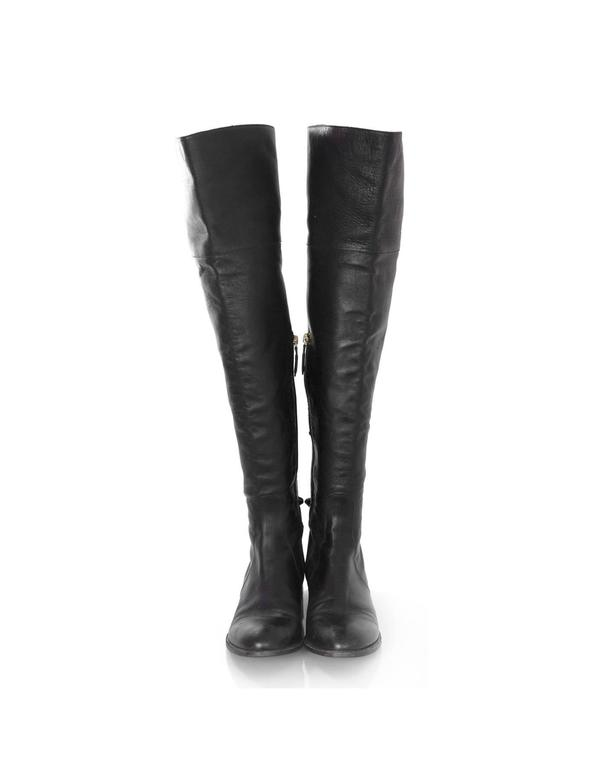 Valentino Black Leather Knee-High Boots sz 40 rt. $1,695 3