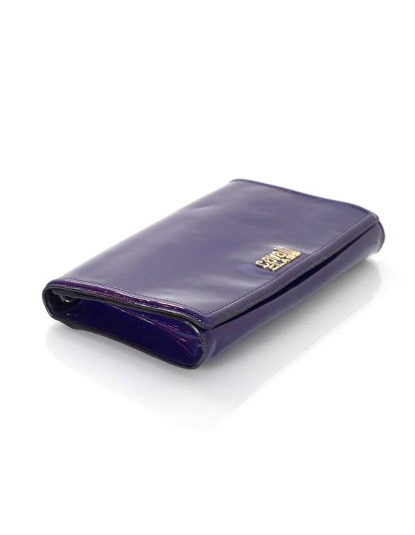 Roberto Cavalli Class Purple Patent Clutch/Shoulder Bag SHW For Sale 1
