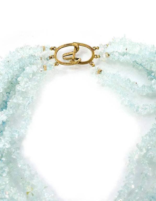 Women's Evelyn Doura Ice Blue Multi-Strand Semi-Precious Stone Necklace For Sale