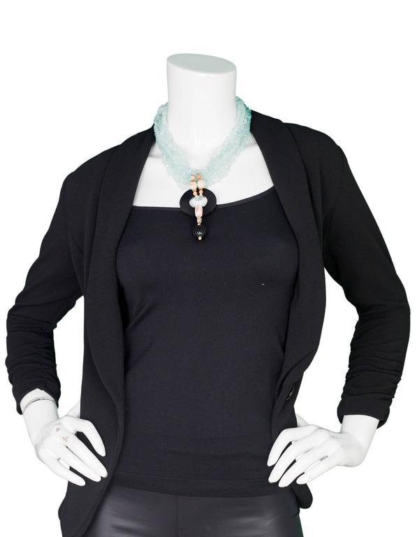 Evelyn Doura Ice Blue Multi-Strand Semi-Precious Stone Necklace For Sale 1