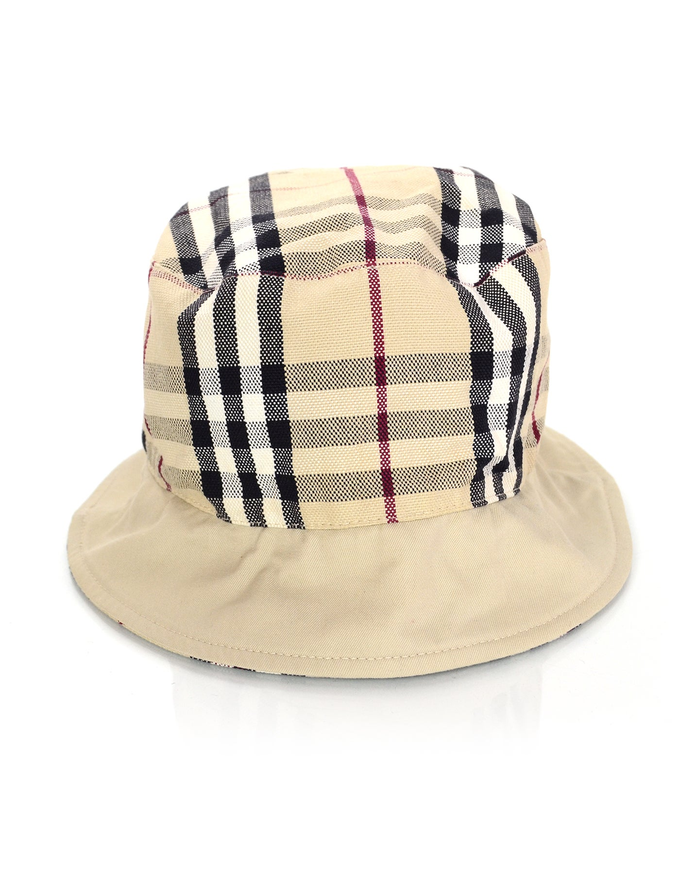Burberry Nova Plaid Hat Reversible For Sale at 1stdibs d954b50239b