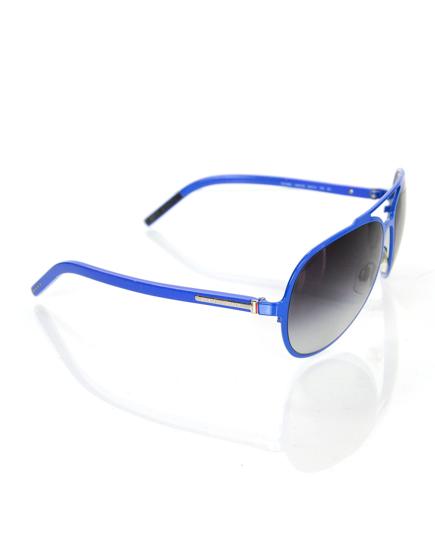 d520a4c9f833 Dolce and Gabbana Blue Aviator Sunglasses For Sale at 1stdibs