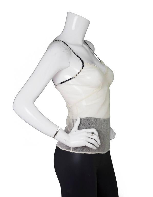 Chanel Beige Mesh Camisole sz S 3