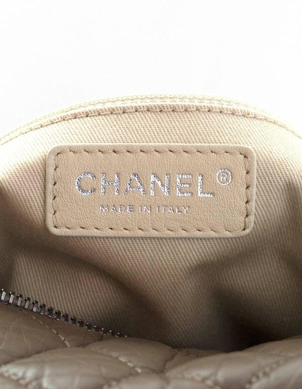 Chanel Taupe Quilted Leather Lady Braid Satchel Bag For Sale 2