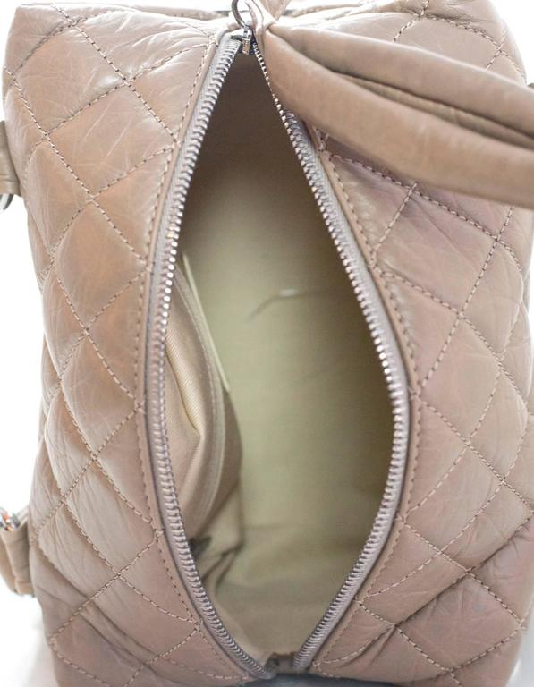 Chanel Taupe Quilted Leather Lady Braid Satchel Bag For Sale 1
