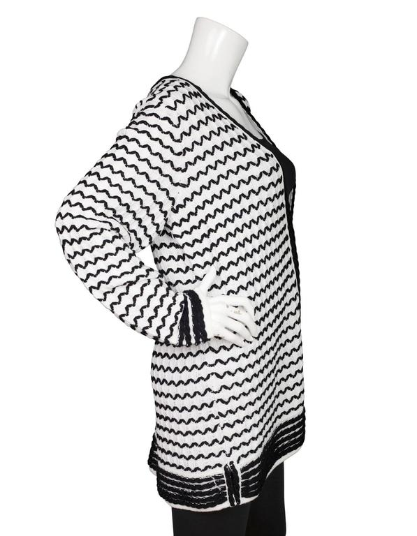 St. John Black and White Knit Cardigan sz XL NWT rt. $695 ...