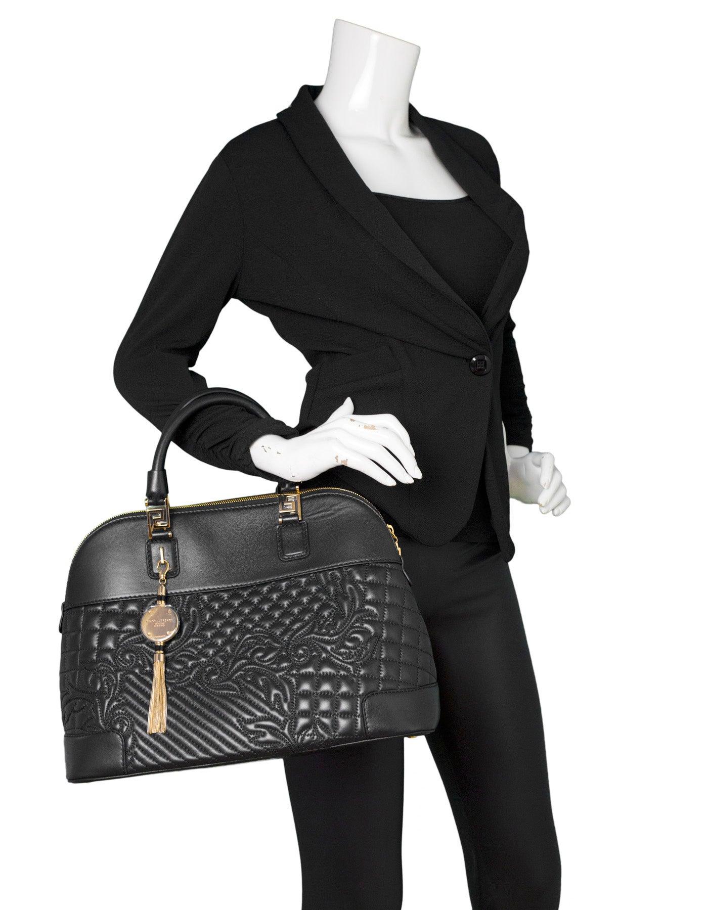 93368e9ba36f Versace Nappa Athena Barocco Quilted Vanitas Bag rt.  2
