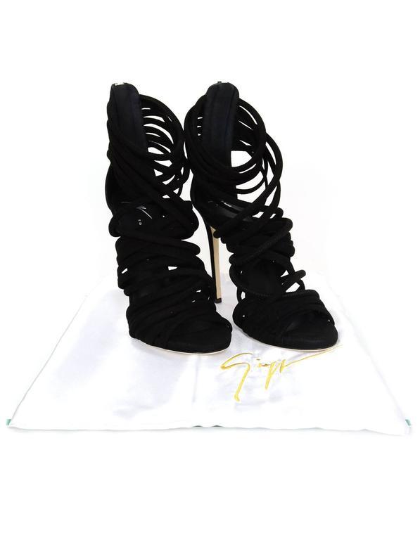 Giuseppe Zanotti Black Suede Cam Pallido Strappy Sandals sz 39.5 rt. $1,150 7