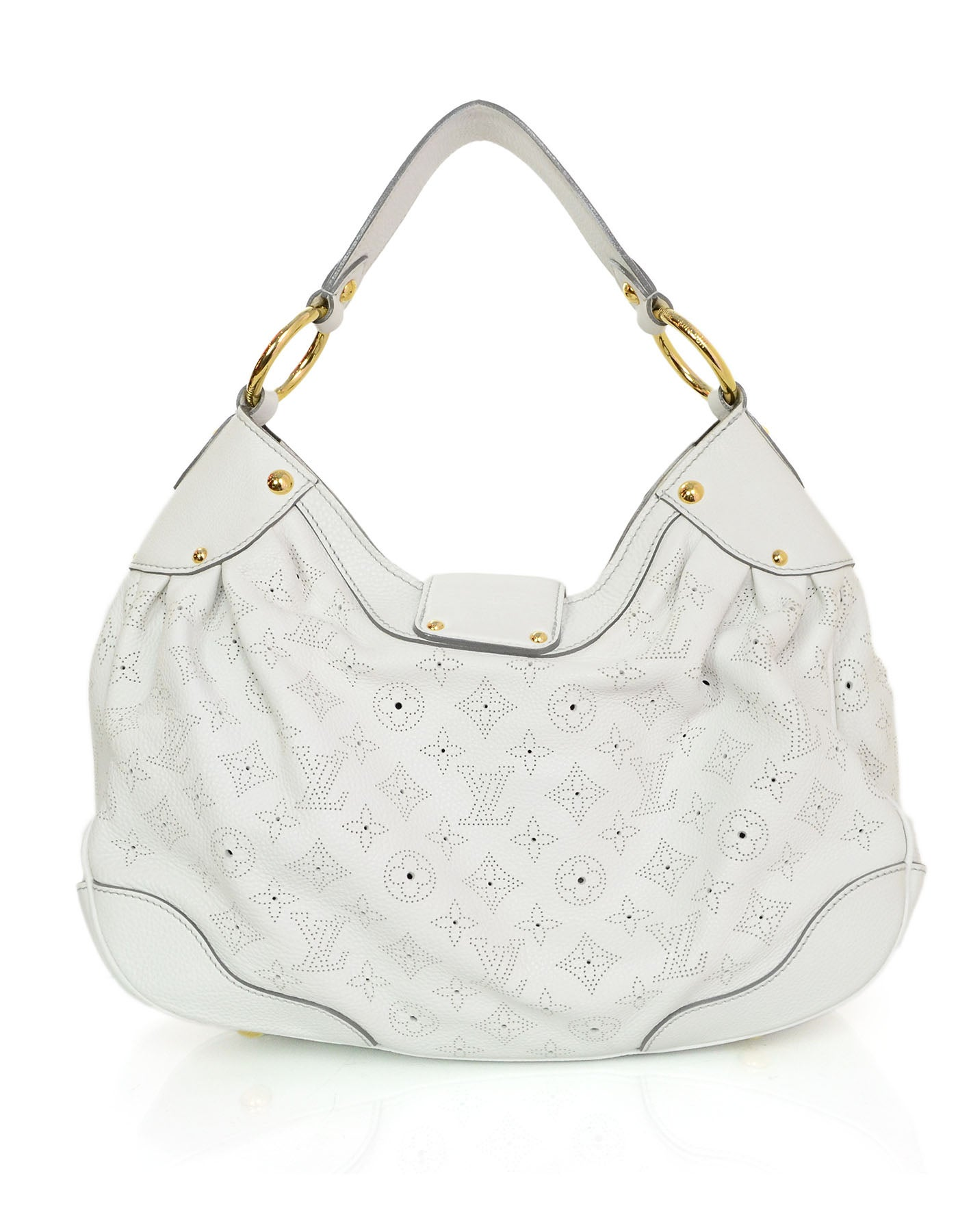 Louis Vuitton White Mahina Solar Pm Hobo Bag Rt 3 800 For At 1stdibs