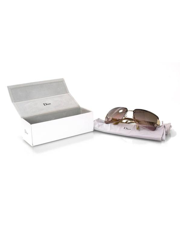 Christian Dior Brown I Love Dior 2 Sunglasses rt. $465 For Sale 3