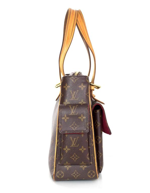 Louis Vuitton Monogram Multipli Cite Pocket Bag Made In Usa Color Brown And Tan