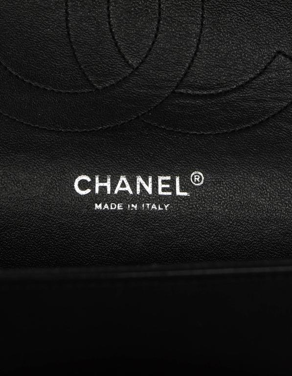 Chanel Rare Collectors Sold Out Chevron SO Black Double Flap Jumbo Classic  Bag For Sale 1 44d47a1e89a