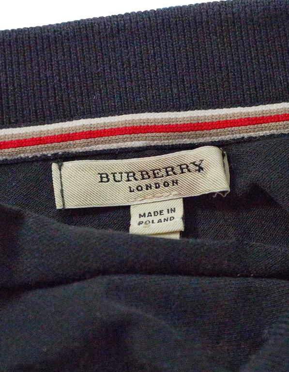 f712b51b Burberry London Black Cotton Short Sleeve Polo sz S For Sale at 1stdibs