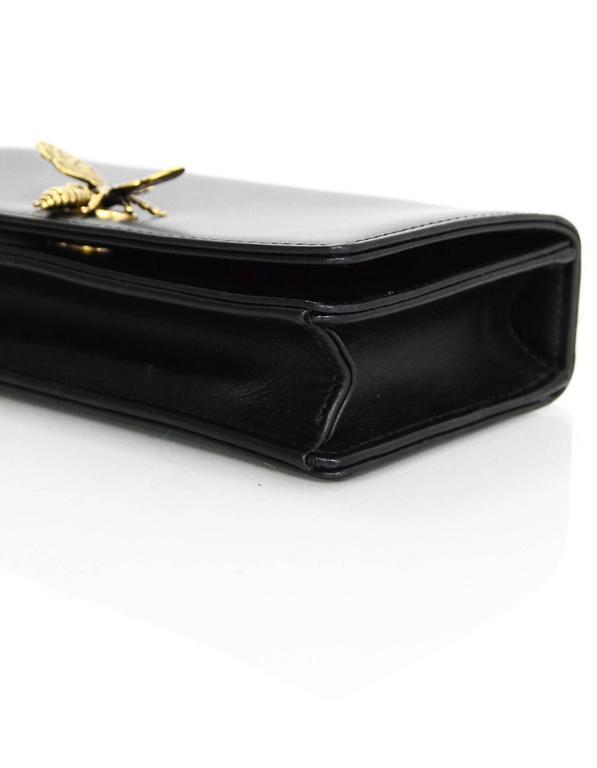 Christian Dior '17 Black Calfskin Bee Pouch Clutch Bag 1