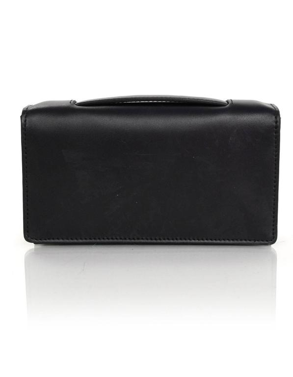 Christian Dior '17 Black Calfskin Bee Pouch Clutch Bag In Excellent Condition In New York, NY