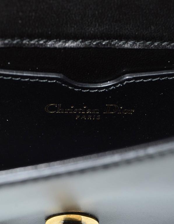 Christian Dior '17 Black Calfskin Bee Pouch Clutch Bag 3