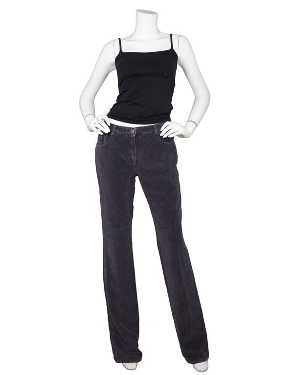 Chanel Grey Corduroy CC Pocket Boot Cut Jeans sz FR42 2