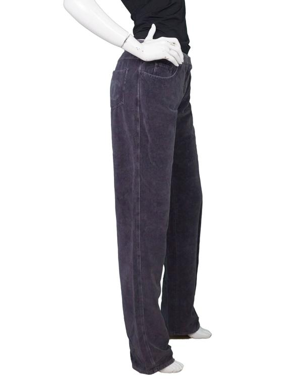 Chanel Grey Corduroy CC Pocket Boot Cut Jeans sz FR42 3