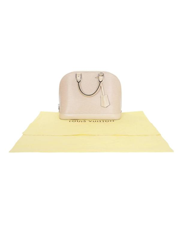 Louis Vuitton Nude Dune Epi Leather Alma PM Bag 9