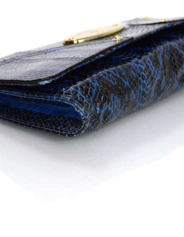 a5624bf8748a ... best mulberry black blue snakeskin clutch bag in excellent condition  for sale in new york 64ef3