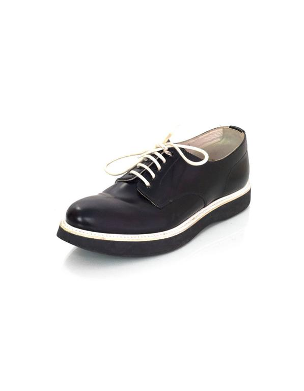 Church S Black And White Lace Up Oxfords Sz 36 5 For Sale