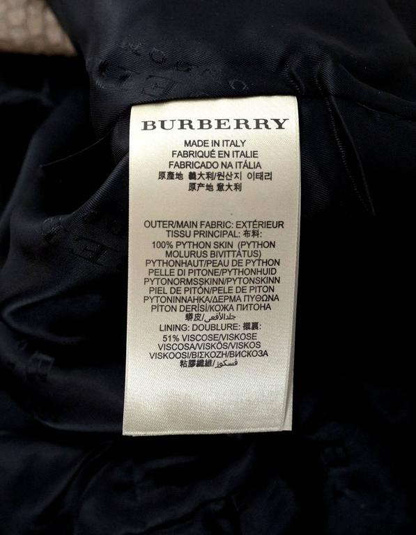 Burberry London Fawn Python Peplum Jacket sz US8 For Sale 1