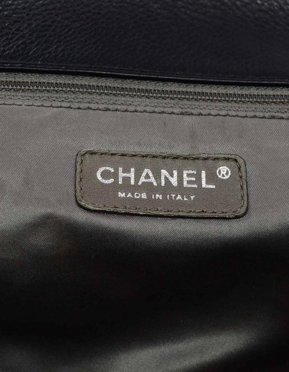 Chanel Black Leather 2.55 Reissue Lock Tote w/ Heavy Chain Straps rt. $3,995 For Sale 4