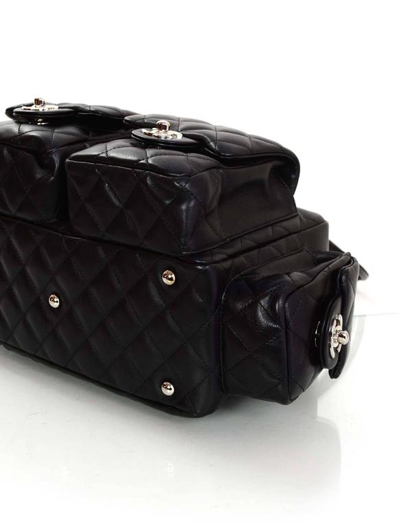 76f64adda2c3ac Chanel Black Quilted Leather CC Cambon Reporter Bag For Sale at 1stdibs