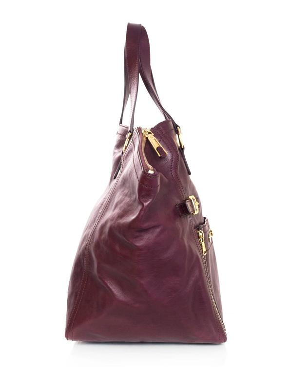 0914c4ad3597 Yves Saint Laurent Burgundy Leather Large Downtown Tote Bag For Sale at  1stdibs