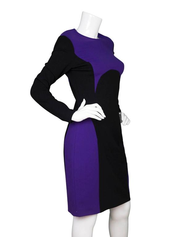 Michael Kors Purple & Black Sheath Dress sz US8 2