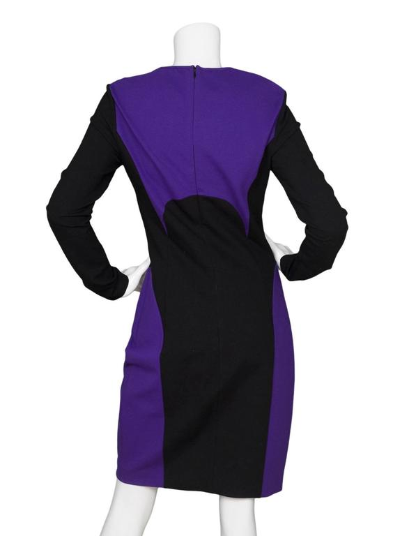 Michael Kors Purple & Black Sheath Dress sz US8 3