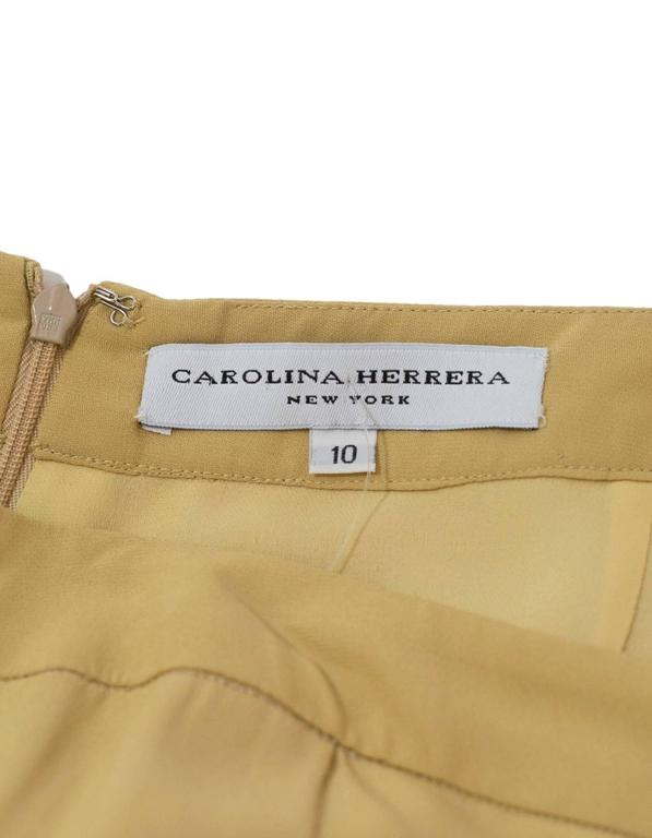 Carolina Herrera Tan Wide Leg Parachute Pants sz US10 4