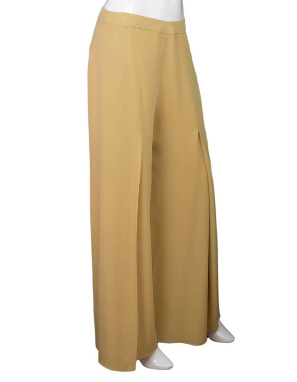 Carolina Herrera Tan Wide Leg Parachute Pants sz US10 2