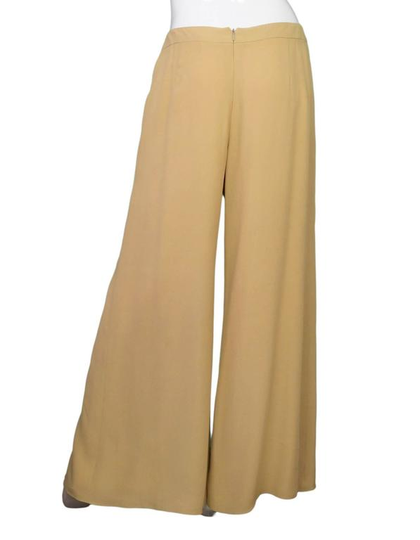 Carolina Herrera Tan Wide Leg Parachute Pants sz US10 3