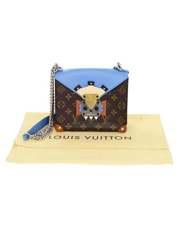 Louis Vuitton Blue and Bown Monogram Mask Pochette Crossbody Bag rt. $3,250 10