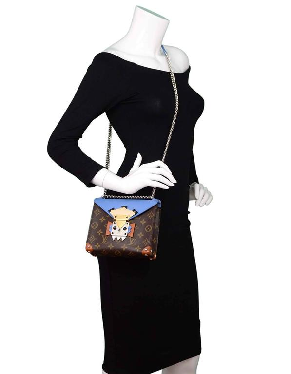 Louis Vuitton Blue and Bown Monogram Mask Pochette Crossbody Bag rt. $3,250 2
