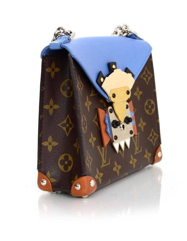 Louis Vuitton Blue and Bown Monogram Mask Pochette Crossbody Bag rt. $3,250 3
