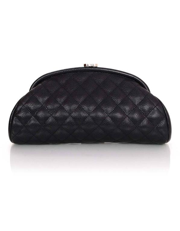 167049d2d7cf8d Chanel Black Quilted Caviar Leather Timeless Clutch Bag In Excellent  Condition For Sale In New York