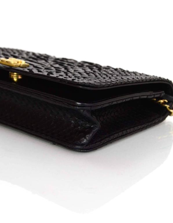 chanel zipper wallet. chanel new 2017 black python boy wallet on a chain woc crossbody bag 3 zipper