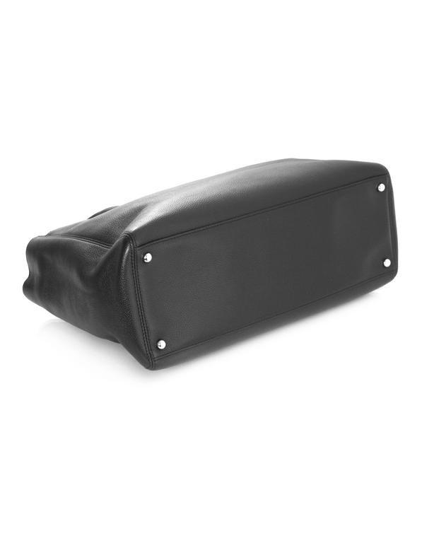 Chanel Black Deerskin Leather Executive Cerf Tote Bag w/ Strap  5